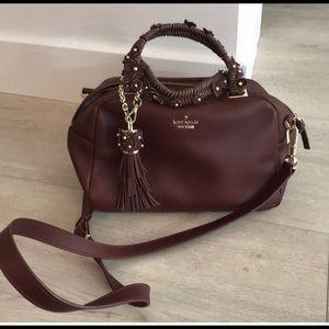 Kate Spade burgundy appliqué crossbody bag